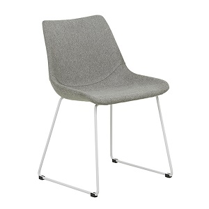 Arnold Dining Chair - Grey Speckle & White