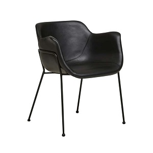 Etta Arm Chair - Vintage Matt Black PU