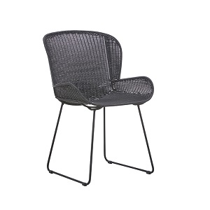 Granada Butterfly Closed Weave Dining Chair - Licorice