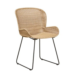 Granada Butterfly Closed Weave Dining Chair - Natural