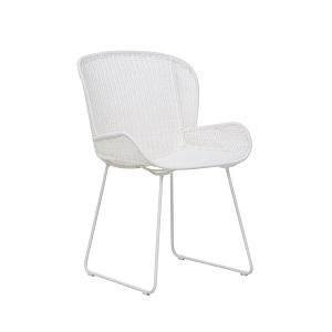 Granada Butterfly Closed Weave Dining Chair - White