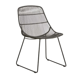 Granada Scoop Dining Chair - Licorice