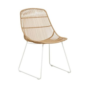Granada Scoop Dining Chair - Natural & White
