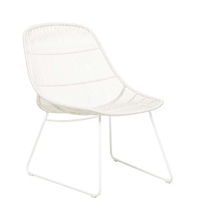 Granada Scoop Occasional Chair - Chalk