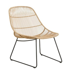 Granada Scoop Occasional Chair - Natural & Licorice