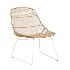 Granada Scoop Occasional Chair - Natural & White