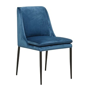 Hannah Dining Chair - Navy Velvet