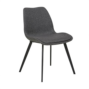 Isaac Dining Chair - Woven Charcoal