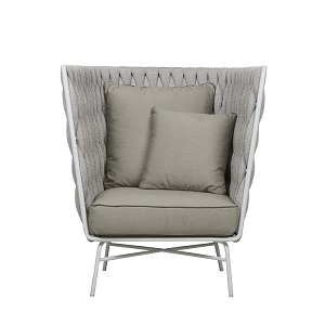 Livorno Cocoon Occasional Chair - Pale Grey