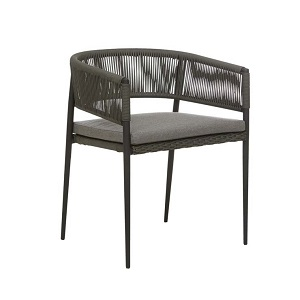 Livorno Curve Dining Chair - Black