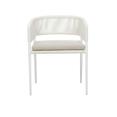 Livorno Curve Dining Chair - White