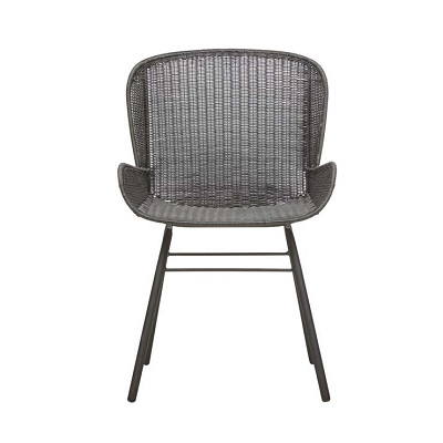 Mauritius Closed Weave Arm Chair - Licorice
