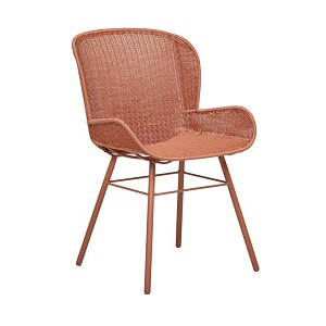 Mauritius Closed Weave Arm Chair - Terracotta