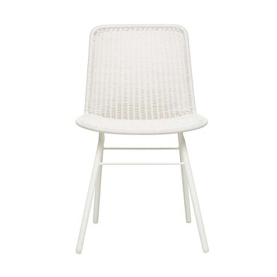 Mauritius Closed Weave Dining Chair - Chalk