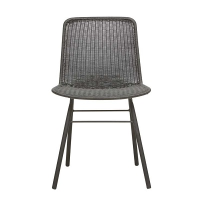 Mauritius Closed Weave Dining Chair - Licorice