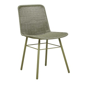 Mauritius Closed Weave Dining Chair - Moss