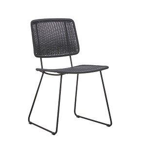 Mauritius Open Dining Chair - Licorice
