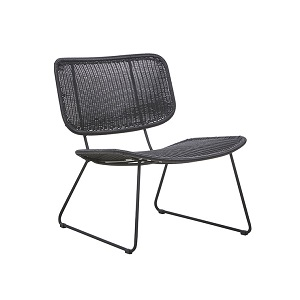 Mauritius Open Occasional Chair - Licorice