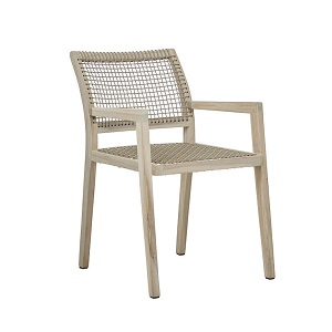 Mauritius Rope Arm Chair - Taupe