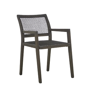 Mauritius Rope Arm Chair - Ebony