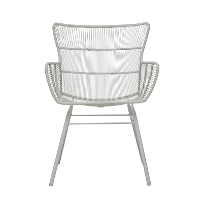 Mauritius Wing Arm Chair - Light Grey