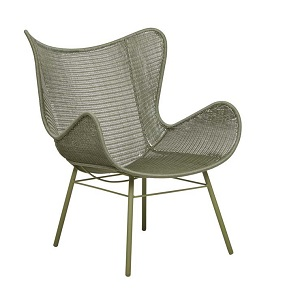 Mauritius Wing Closed Weave Occasional Chair - Moss