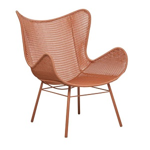 Mauritius Wing Closed Weave Occasional Chair - Terracotta