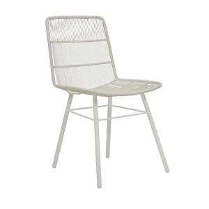 Mauritius Woven Dining Chair - Chalk