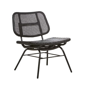 Plantation Open Occasional Chair - Black