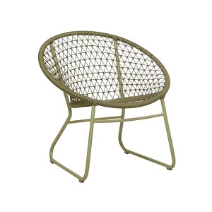 Positano Woven Round Arm Chair - Moss Green