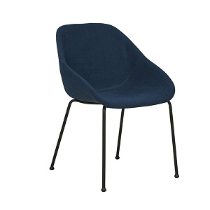 Ronald Arm Chair - Dark Blue