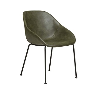 Ronald Arm Chair - Vintage Matt Green PU