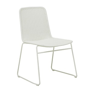 Southport Sleigh Dining Chair - White