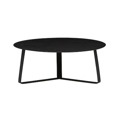 Cancun Ali Round Coffee Table - Black
