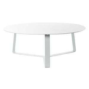 Cancun Ali Round Coffee Table - White