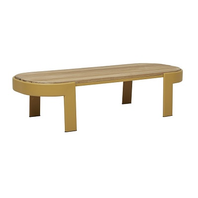 Lagoon Oval Coffee Table - Mustard