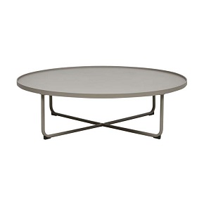 Lagoon Large Round Coffee Table - Taupe