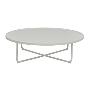 Lagoon Large Round Coffee Table - White