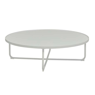 lagoon large round coffee table white