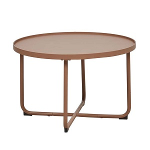 Lagoon Medium Round Coffee Table - Terracotta