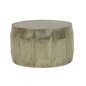 Vionnet Carved Coffee Table - Antique Metal