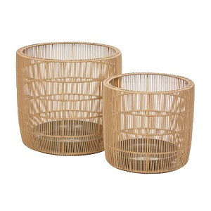 Mauritius Woven Set of 2 Baskets - Natural