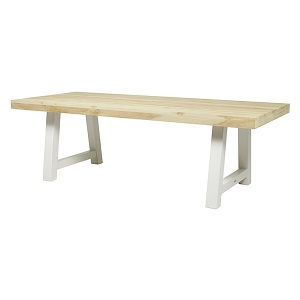 Granada Beach Dining Table - Driftwood & White