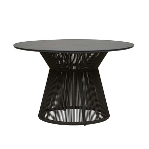 Villa Rope Round Dining Table - Charcoal