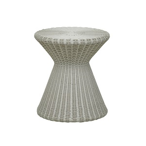 Mauritius Woven Side Table - Light Grey