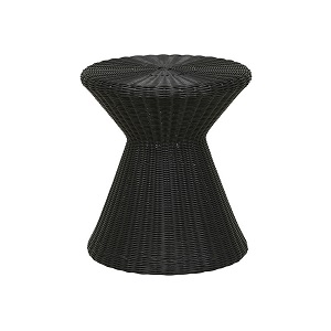 Mauritius Woven Side Table - Licorice