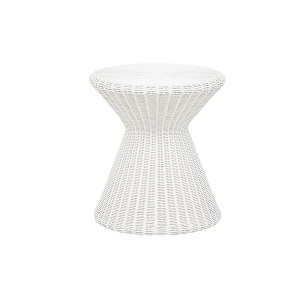 Mauritius Woven Side Table - White
