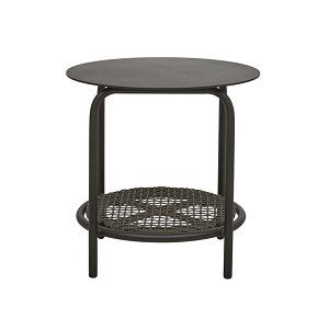Aperto Rounded Side Table - Grey & Black