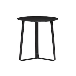 Cancun Ali Round Side Tables - Black