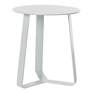 Cancun Ali Round Side Tables - White